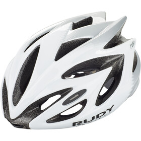 Rudy Project Rush Cykelhjelm, white/silver shiny